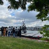 Zwei Gruppen jugendlicher Flüchtlinge konnten an Bord begrüsst werden. (Museum Tinguely)