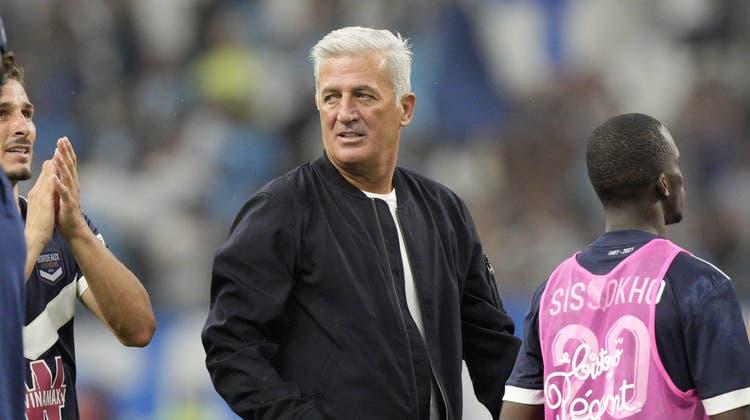 Der ehemalige Trainer der Schweizer Nationalmannschaft Vladimir Petkovic wartet mit seinem neuen Team Girondins Bordeaux weiter auf den ersten Sieg. (Keystone)