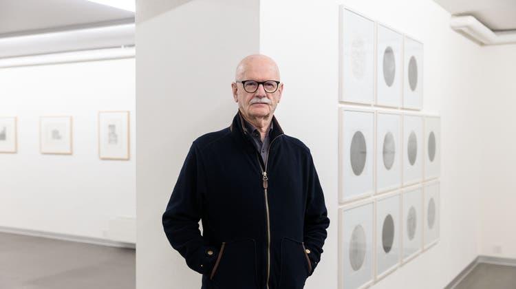 Jean Mauboulès anlässlich einer Ausstellung im Kunstmuseum Solothurn im März 2020. (Hanspeter Bärtschi)