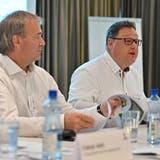 EHCO-VR-Präsident Marc Thommen (r.) und Vize Max Feuz. (Bruno Kissling / OLT)