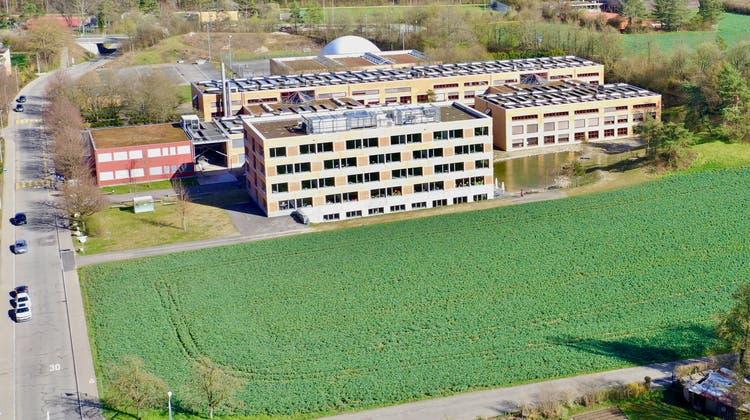 Das Gebiet Neumatt Ost in Stein gilt derzeit als erster Anwärter für den Mittelschulstandort. (Zvg / Aargauer Zeitung)