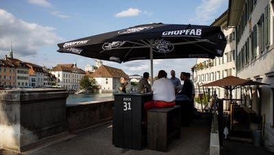 Das Bödeli auf der Wengibrücke gehört dem Dock. (Hanspeter Bärtschi)