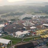 Luftaufnahme des letztmaligen grossen Open Air Frauenfeld 2019. (Bild: PD)