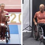 Marcel Hug holt sich in Tokio seine zweite Goldmedaille. (Keystone)
