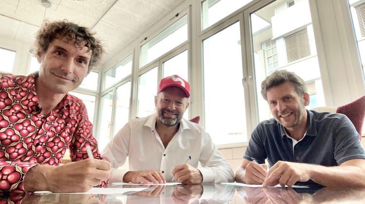 Die drei Inhaber Mike Müller, Reto Baumgartner und Urs Koller behalten 20% der Anteile. (obs/MySign AG)