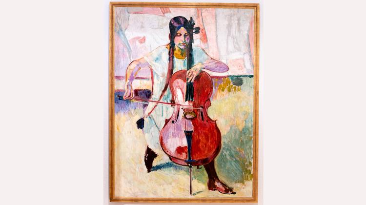 «Die Cellistin» von Cuno Amiet, Sammlung Christine und Hanspeter Rentsch. (Michel Lüthi)