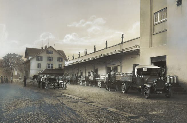 Consegna del latte a Hochdorf negli anni '20.