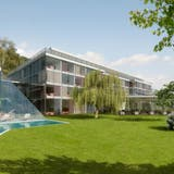 Das Parkhotel mit Seniorenresidenz in Bad Rans in Sevelen blieb eine Vision– die nun schon seit Jahren die Justiz beschäftigt. (Bild: PD)