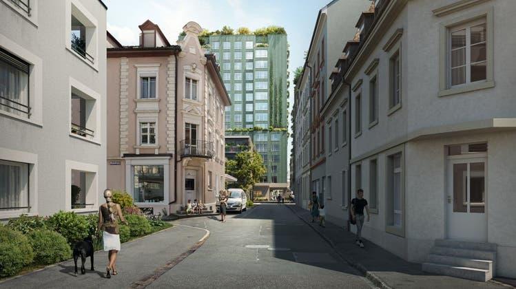 Noch Stadt oder schon Land? Visualisierung des Quartierplan van Baerlein Münchenstein. (Bild: zVg)