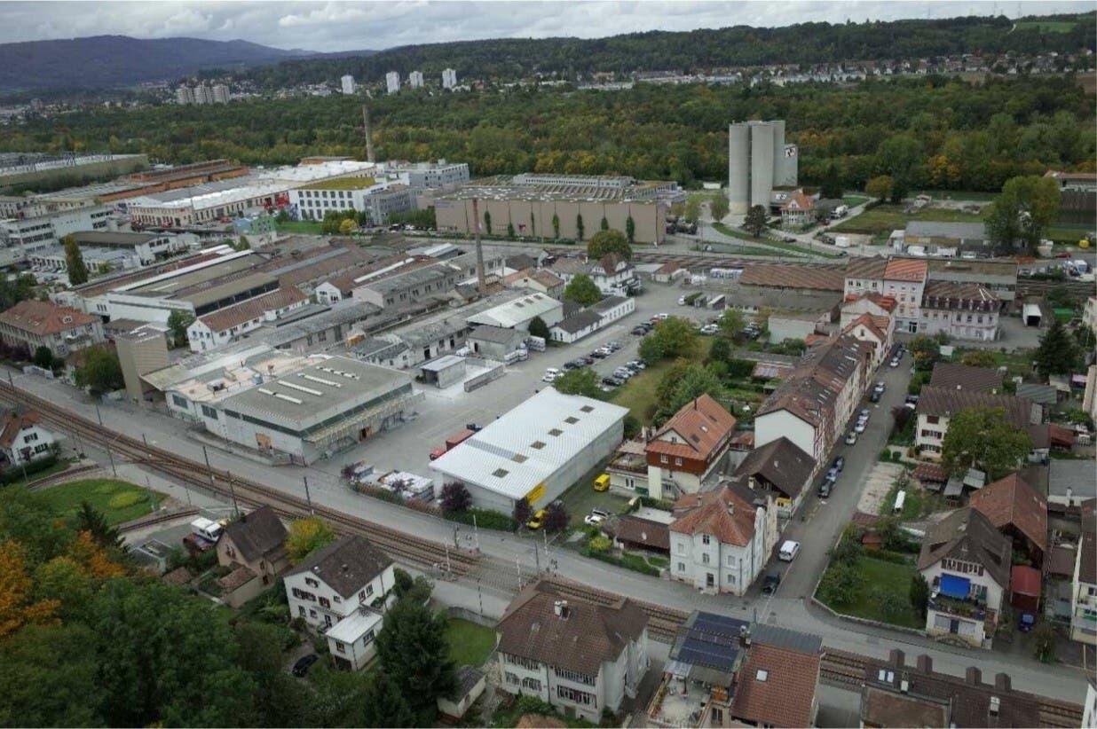 So sieht das ehemalige Industrieareal van Baerle in Münchenstein derzeit aus.