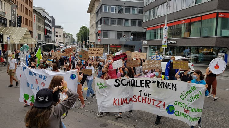 Klimademo in Aarau am 19. September 2020 (az)