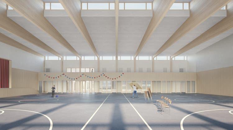 Visualisierung der geplanten Mehrzweckhalle. (Bild: PD/Nightnurse Images)