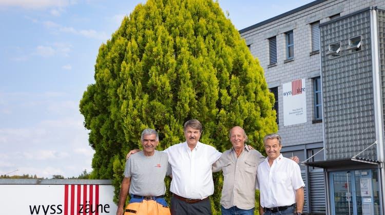 Gehen in den wohlverdienten Ruhestand: Rajko Stanic, Andreas Wyss, Beat Bähler und Toni Felder (v.l.) (Bilder: PD)