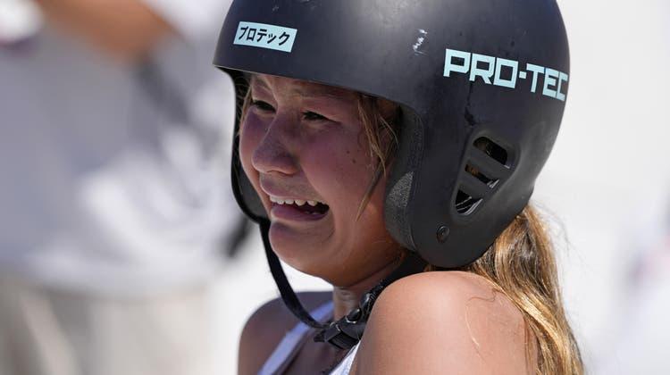 Sky Brown ist das Postergirl der Trendsportart Skateboard. (Ben Curtis / AP)