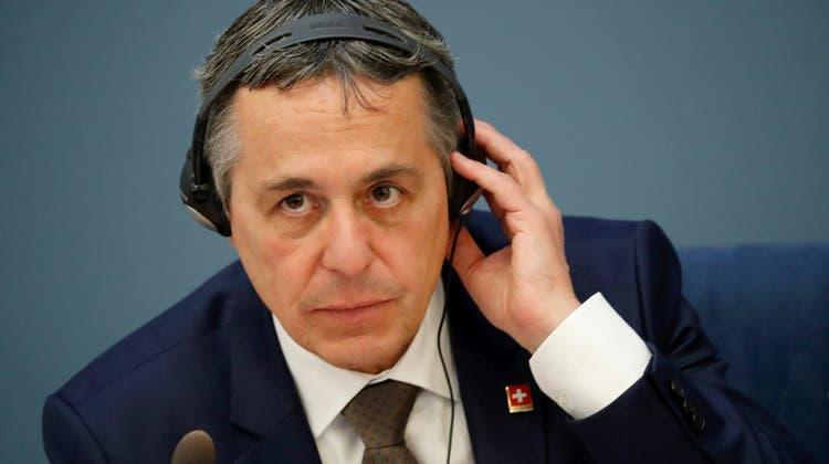 Aussenminister: Nach einem Besuch im Baltikum zu Beginn des Sommers ist Ignazio Cassis nun in Südostasien unterwegs. (Archivbild) (Keystone)