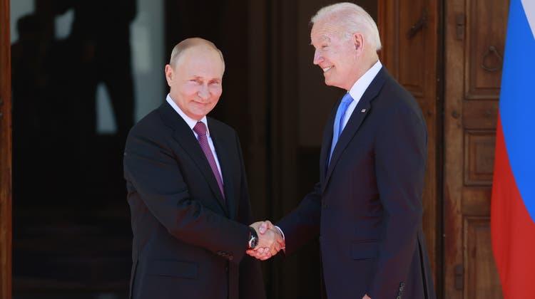 Das Treffen von Joe Biden (links) und Wladimir Putin sorgte weltweit für mediale Aufmerksamkeit. (Bild: Denis Balibouse/Keystone (Genf, 16. Juni 2021))