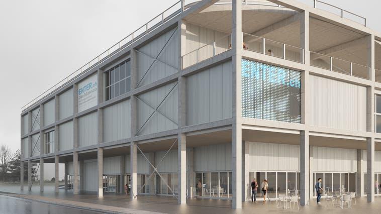 Geplanter Neubau Museum Enter. (Visualisierung: Waldrap GmbH)
