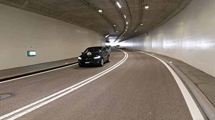 Der Cholfirst-Tunnel liegt im Norden des Kantons Zürich und ist Teil der A4. (Valentin Hehli / AGR)