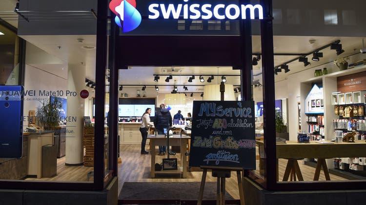 Die Swisscom hat 2021 bisher8,34 Milliarden Franken umgesetzt. (Keystone)