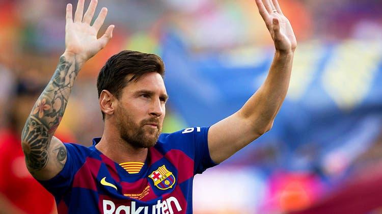 Lionel Messi verabschiedet sich vom FC Barcelona. Beide Parteien konnten sich nicht einigen. (Keystone)