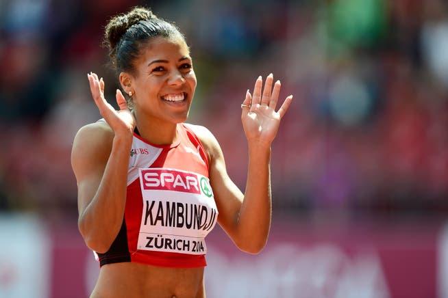 Bei den Europameisterschaften 2014 in Zürich wurde Mujinga Kambundji zum Gesicht der Schweizer Leichtathletik.