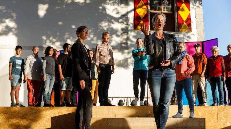 """Probe zur Oper """"Poppea"""" auf Schloss Waldegg. (Hanspeter Bärtschi / SZ)"""