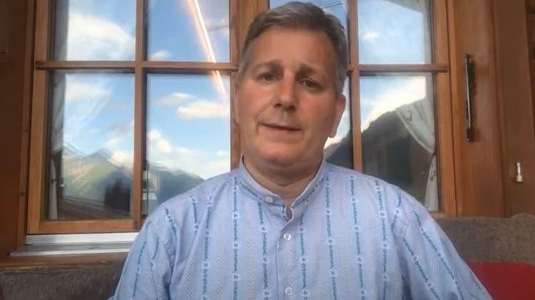 SVP-Präsident Marco Chiesa. (Screenshot Youtube)