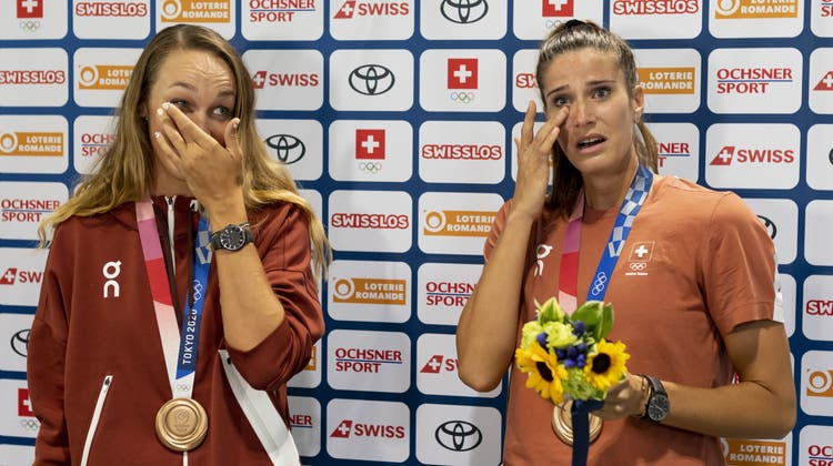Mit Tränen in den Augen: So emotional war der Empfang für Joana Heidrich und Anouk Vergé-Dépré