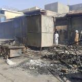 NachKämpfen zwischen der Taliban and afghanischen Sicherheitskräftenzeigt sich in Kundus ein Bild der Zerstörung. (Abdullah Sahil / AP)