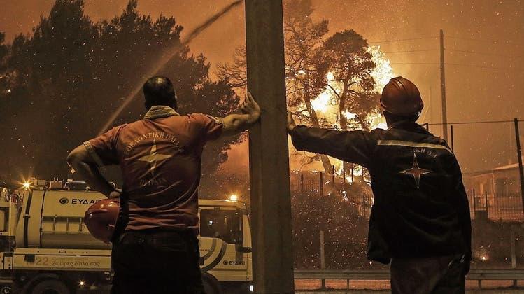 Apokalyptische Feuerstürme in Athen: «Alles verloren – in einer Nacht»