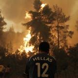 Die Waldbrände in Griechenland toben weiter. (Keystone)