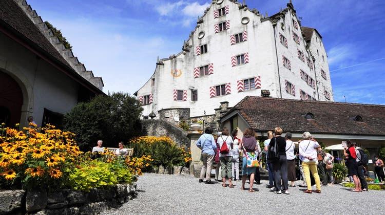 Viele Besucherinnen und Besucher entdecken die acht Blumen-Räume im Schloss lieber mit einem Tour-Guide. (Natasha Hähni / Aargauer Zeitung)