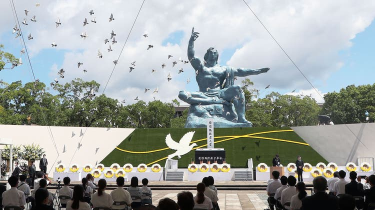 Mahnung und Gedenken in Nagasaki. (Keystone)