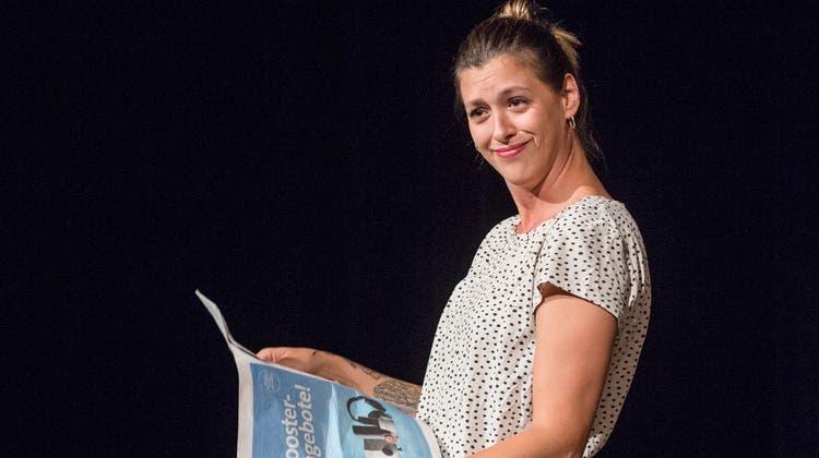 Slampoetin Lisa Christ zeigt ihr erstes Programm im Eisenwerk in Frauenfeld. (Reto Martin)