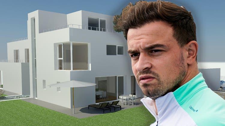 Xherdan Shaqiri will in Rheinfelden ein Haus bauen. Das sind die Pläne des Architekten Enrico Kyburz. (© Kyburz Architektur & Bauleitungen Gmbh)