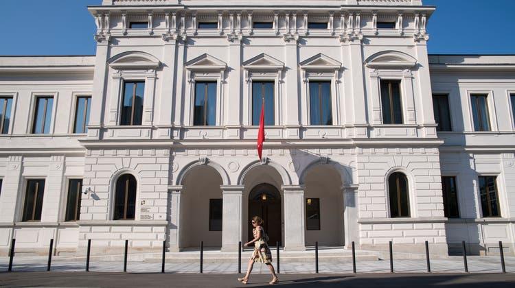 Das Bundesstrafgericht in Bellinzona. (Alessandro Crinari / KEYSTONE/TI-PRESS)