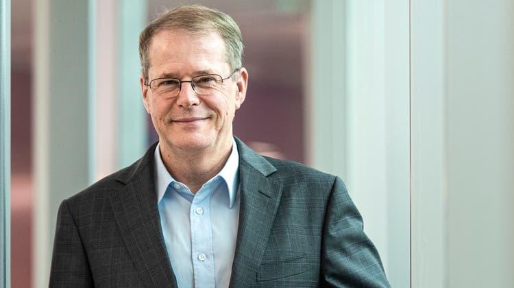 Christian Schmid, seit Anfang Mai 2021 Chef der St.Galler Kantonalbank, an deren Hauptsitz. (Bild: Reto Martin (St.Gallen, 3. September 2021))