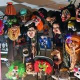 Das war die Fasnacht 2021 in Olten: Masken im Schaufesnster des Kunstmuseums. (Bruno Kissling)