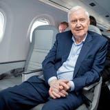 Investor und Helvetic-Besitzer Martin Ebner auf einem Rundflug über den Alpen im Jahr 2018. (Melanie Duchene / KEYSTONE)