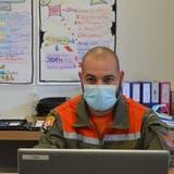 Mike Federer leitet das Testzentrum sowie die kantonale Hotline. (Bild: Mea McGhee)