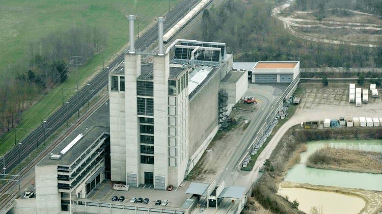 Die Kehrichtverbrennungsanlage (KVA) Weinfelden im Osten von Weinfelden. (Bild: Reto Martin)