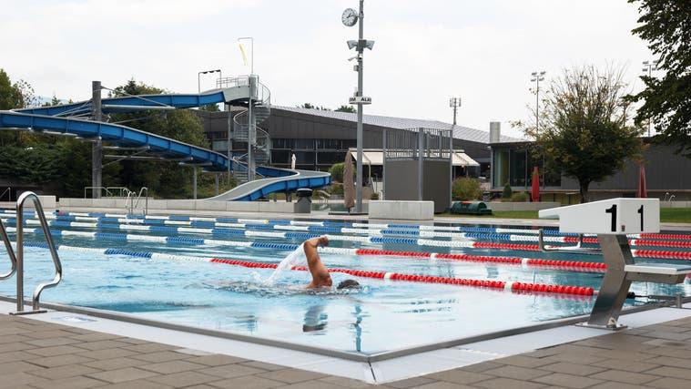 Das Schwimmbad Zuchwil kurz vor dem Saisonende. (Hanspeter Bärtschi)