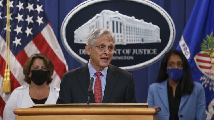US-Justizminister Merrick Garland bei einer Pressekonferenz am 9. September 2021. (Bild: J. Scott Applewhite / AP)