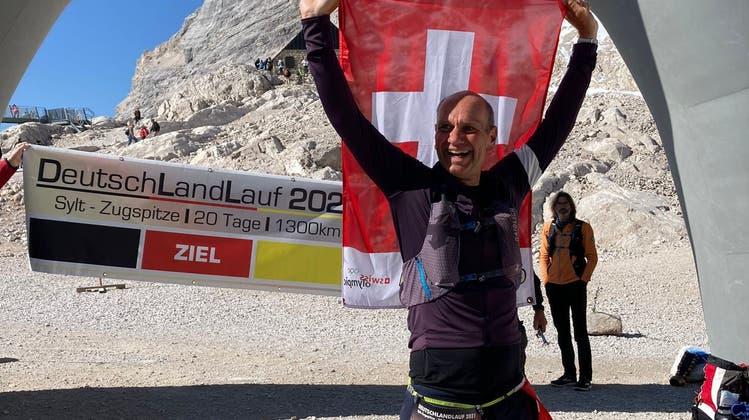 Patrik Hegelbach aus Grenchen schafft die 1300 Kilometer!