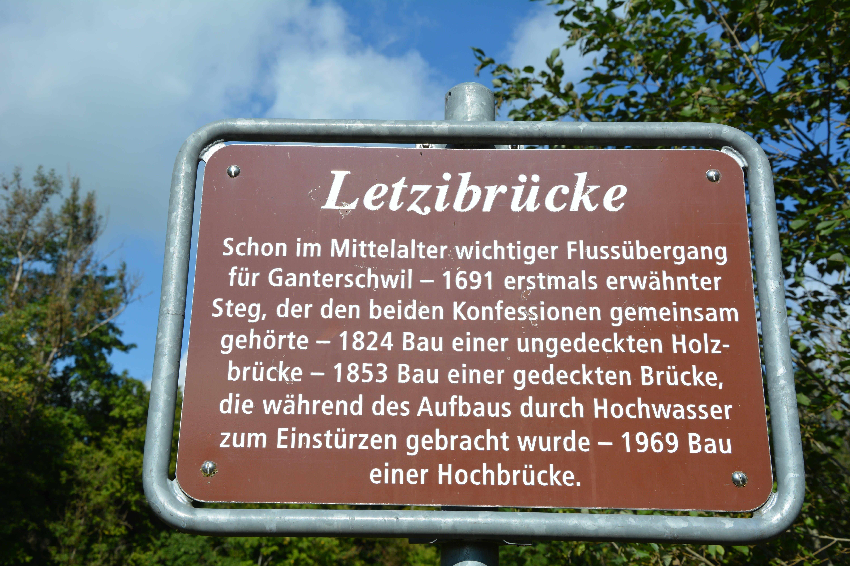 Die Geschichte der alten Letzibrücke in Kurzform.