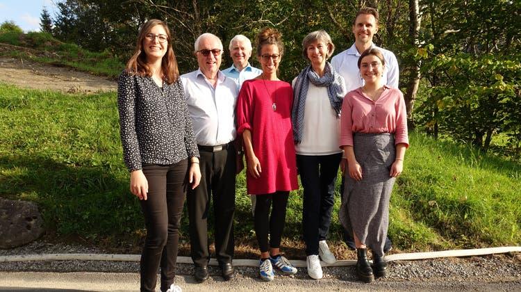Der Vorstand des Fördervereins Klangwelt Toggenburg (von links): Chantal Schmid, Sepp Germann, Ueli Roth, Martina Schlumpf, Ruth Brunner, Philipp Kamm sowie Sina Fischbacher. (Bild: Christiana Sutter)