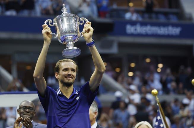 Der Sieger der US Open heisst Daniil Medwedew.