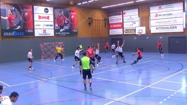 Der STV Baden spielte auswärts gegen den HSC Kreuzlingen. (Screenshot/Livestream)
