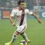 Xherdan Shaqiri absolvierte sein erstes Spiel im Trikot von Olympique Lyon und lieferte dabei einen feinen Assist. (Keystone)