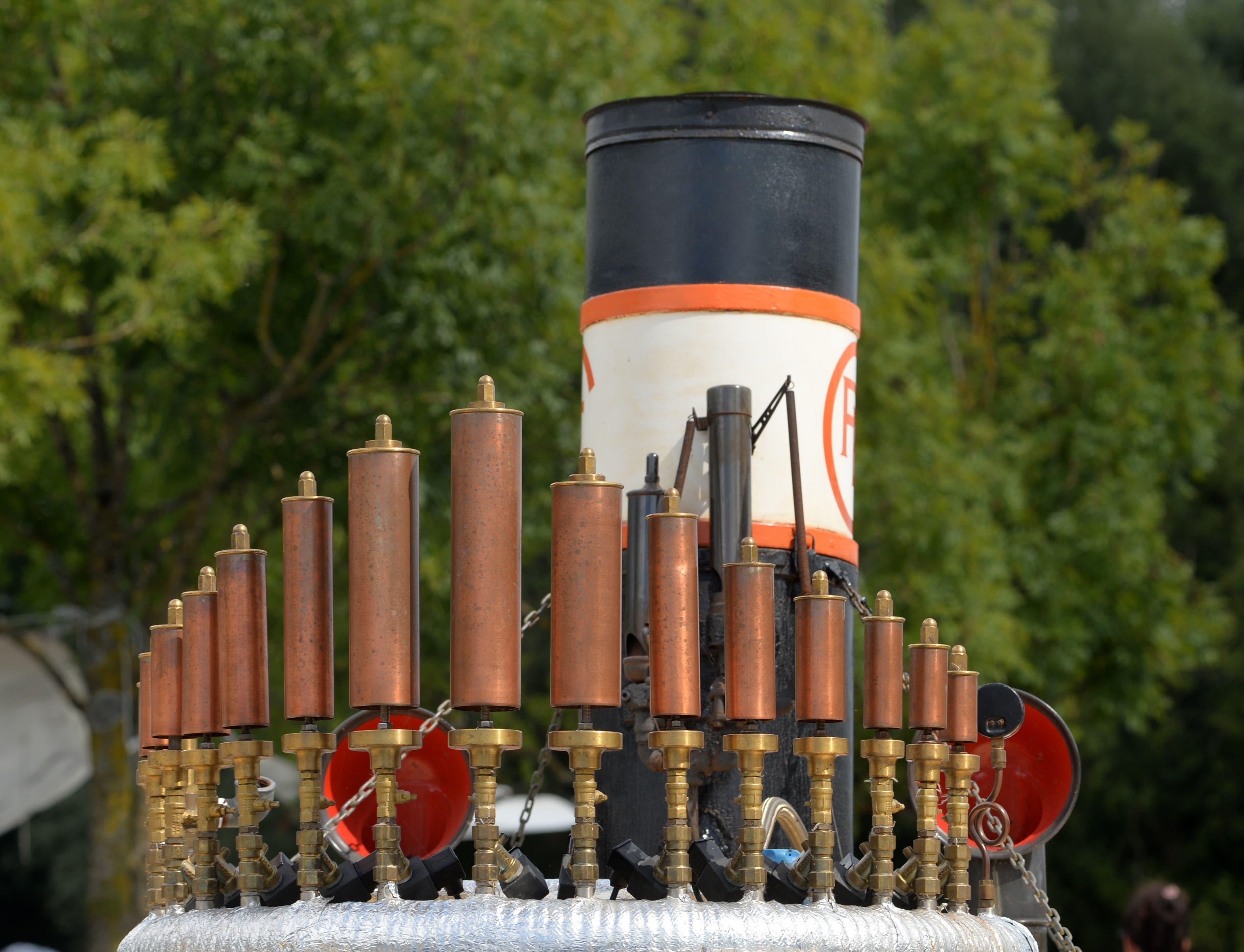 Das dampfbetriebene Orgelspiel der Vulcania.